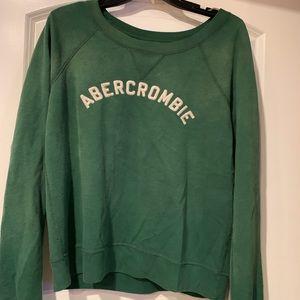 Green Abercrombie large sweatshirt, super soft